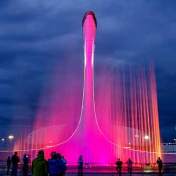 олимпийский парк в Сочи поющие фонтаны