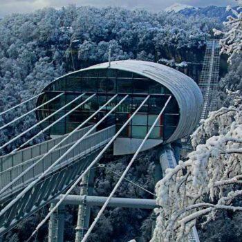 Скай парк Сочи зимой